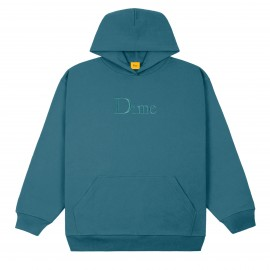 Dime Mtl Dime Classic Embroidered Logo hoodie real teal