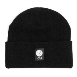 Polar Fill Logo Beanie black white