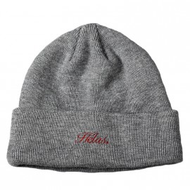 Hélas Hélas Embroidered Beanie grey
