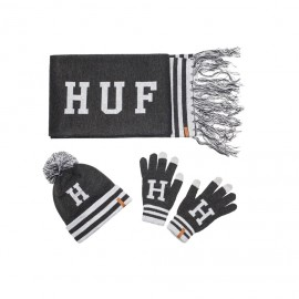 Huf Collegiate H Gift Set charcoal