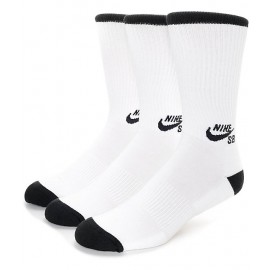 Nike SB 3 pack Crew Socks white black