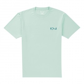 Polar Wavy Faces tee S/S dusty aqua