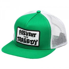 Thrasher Prevent This Tragedy Cap Trucker green white