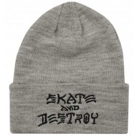Thrasher Skate And Destroy Emb Beanie grey