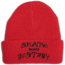 Thrasher Skate And Destroy Emb Beanie red