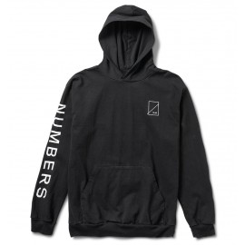 Numbers Wordmark Hooded Jersey black