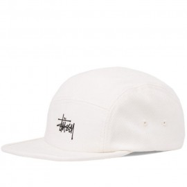 Stüssy Basic Logo Camp Cap off white