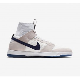 Nike SB Dunk High Elite QS white midnight navy white pure platinum