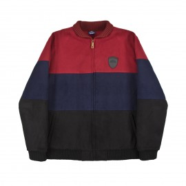 Hélas Fan Jacket burgundy navy black
