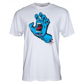 Santa Cruz Screaming Hand Tee white