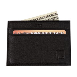 WKND IOU wallet black leather