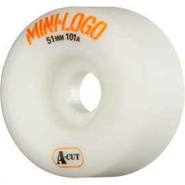 Mini Logo A-Cut white 51mm 101A