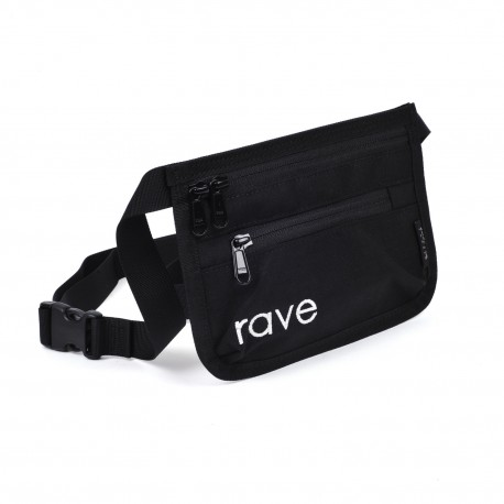 Rave Skateboards Slim Fanny Pack black purple