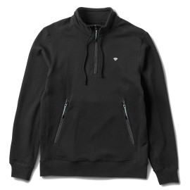 Diamond Mock Neck Pullover jacket black