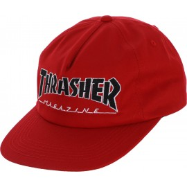 Thrasher Outlined Snapback cap red