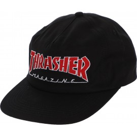 Thrasher Outlined Snapback cap black