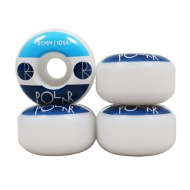 Polar Fill Logo wheels white 51mm