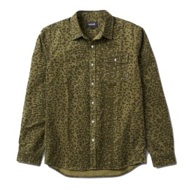 Diamond Cheetah L/S Woven shirt olive