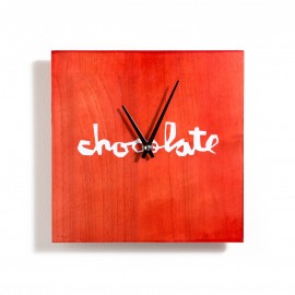 Chocolate Clock Chunk red