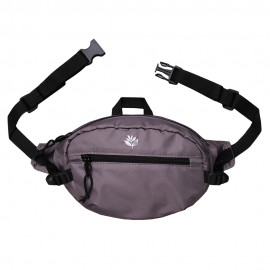 Magenta Banana bag dark grey