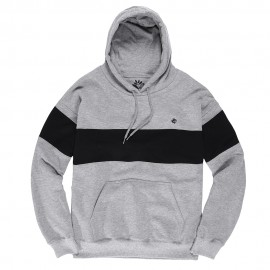 Magenta Brodé hood heather grey