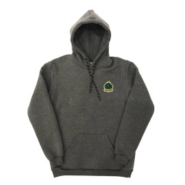 Zeropolis Industries hoodie charcoal yellow