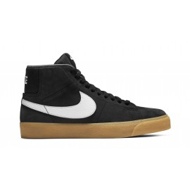 Nike SB Blazer Mid ISO black white safety orange