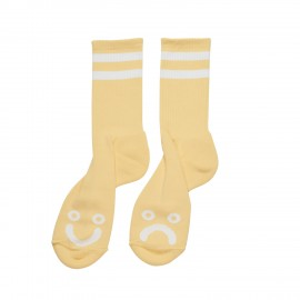 Polar Happy Sad socks light yellow