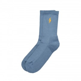Polar No Comply socks slate blue yellow