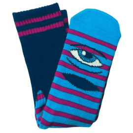 Toy Machine Sect Eye socks stripes navy purple