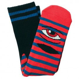 Toy Machine Sect Eye socks stripes red blue