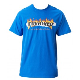 Thrasher Ripped tee S/S royal blue
