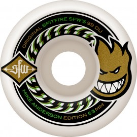 Spitfire Mike Anderson SFW2 wheels white 53mm