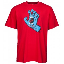 Santa Cruz Screaming Hand tee S/S deep red