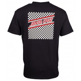 Santa Cruz Check Strip Hue tee S/S black