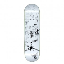 """Fucking Awesome Jason Dill deck Drawings white 8.25"""""""