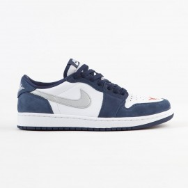 Nike SB Air Jordan 1 low midnight navy metallic silver white