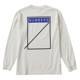 Numbers Logotype L/S off white