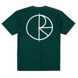 Polar Stroke Logo tee S/S dark green white