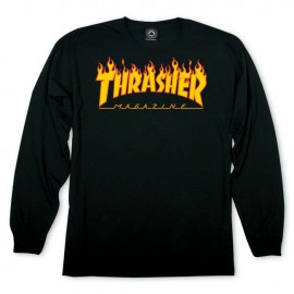 Thrasher Flame Logo tee L/S black