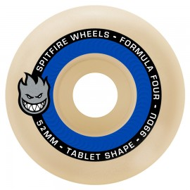 Spitfire Formula Four Tablet Natural 99D white 52mm