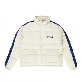 Polar Stripe Puffer jacket ivory navy