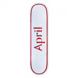 April skateboards OG Logo deck white red 8""