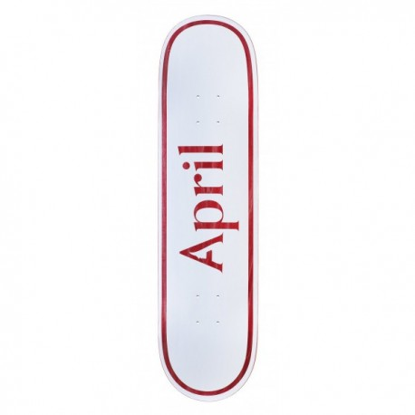 April Skateboards OG Logo deck white red 8.25""