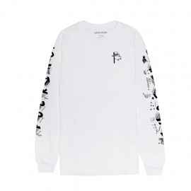 Fucking Awesome Block Letters tee L/S white