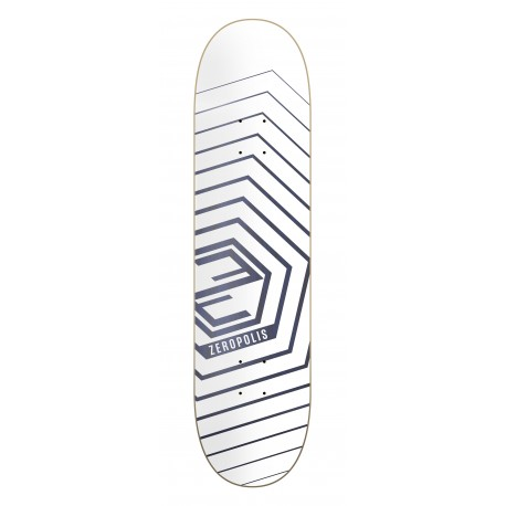 Zeropolis Hexagon white blue 8.25""