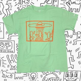 Diamond Keith Haring Space Ships tee mint