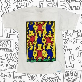 Diamond Keith Haring Finger Crossed tee white