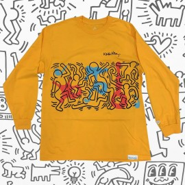 Diamond Keith Haring Rythm And Motion tee L/S yellow