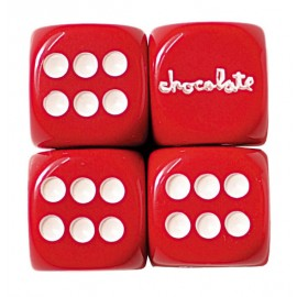 Chocolate Chocolate Dice set red
